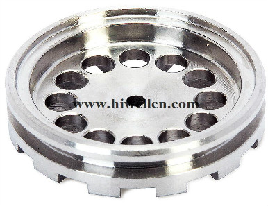 CNC Machining Part with Testing Equipment, Made of Stainless Steel and Aluminum
