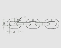 PROOF COIL CHAIN G30, U.S. TYPE ASTM80