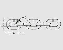 TRANSPORTATION CHAIN G70, U.S. TYPE ASTM80