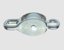 DIE CASTING SINGLE PULLEY WITH EYE END, ZINC ALLOY, Nylon Wheel
