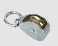 DIE CASTING SINGLE PULLEY WITH SWIVEL,Zinc Alloy,Zinc Plated