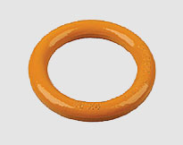 WELDLESS ROUND RING,forged carbon steel , yellow painted